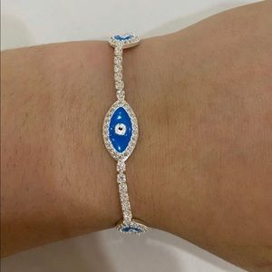 Evil Eye Protection Adjustable Sterling Silver
